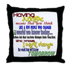 Changing tomorrow Throw Pillow