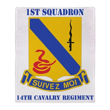 1-14 CAV RGT WITH TEXT Throw Blanket