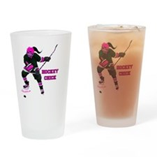hockey_chick Drinking Glass