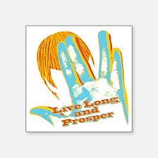 "Live long prosper Square Sticker 3"" x 3"""
