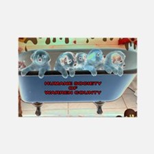 Tub Negative 2 Rectangle Magnet