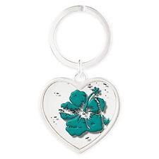 flower Heart Keychain
