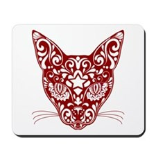 Hipster style red sugar Kat Mousepad
