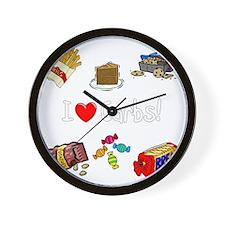 carbs-drk Wall Clock