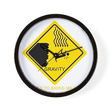 Gravity-Yellow Wall Clock