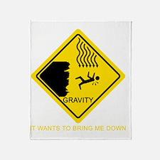 Gravity-Yellow Throw Blanket