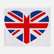 british heart Throw Blanket