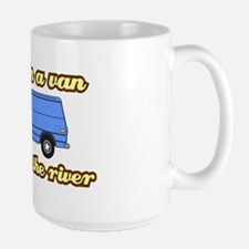 I-live-in-a-van-(white-shirt) Large Mug