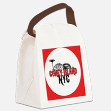 coney-red-cir Canvas Lunch Bag