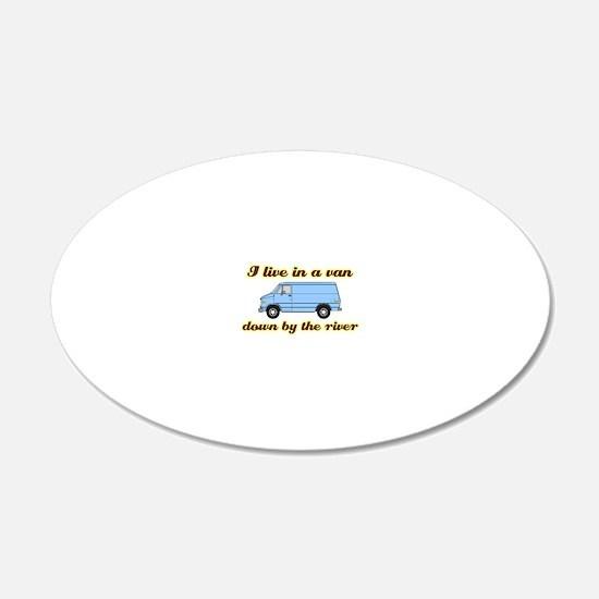 I-live-in-a-van-(dark-shirt) Decal Wall Sticker