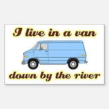 I-live-in-a-van-(dark-shirt) Decal