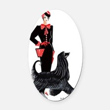 Yvonne and Ambrose Oval Car Magnet