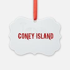 coney_island-nyc4black Ornament