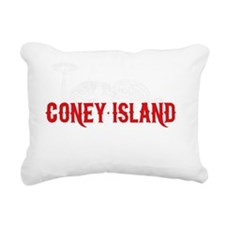 coney_island-nyc4black Rectangular Canvas Pillow