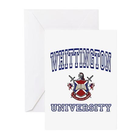 WHITTINGTON University Greeting Cards (Package of
