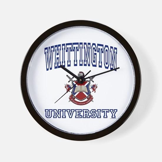 WHITTINGTON University Wall Clock