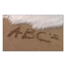 ABCs Sand (3) Decal