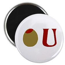 """Olive U 2.25"""" Magnet (100 pack)"""