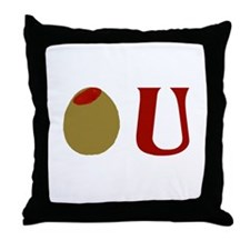 Olive U Throw Pillow