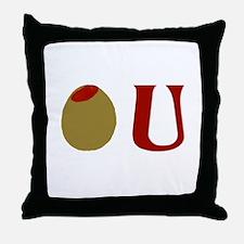 Olive U Throw Pillow