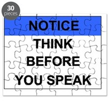 Notice_THINK_BeforYouSpeak Puzzle