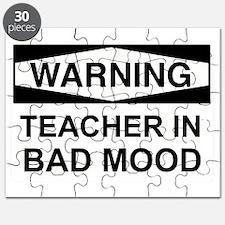 TeacherInBadMood2_BlkAndWht Puzzle