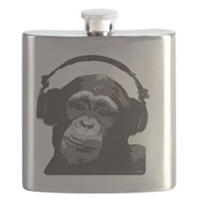 DJ MONKEY light grey Flask