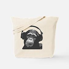 DJ MONKEY light grey Tote Bag