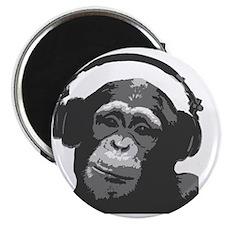DJ MONKEY light grey Magnet