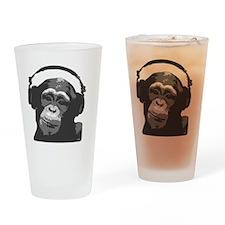 DJ MONKEY light grey Drinking Glass