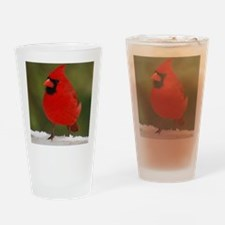 Cardinal for notecard- 01-18-09 and Drinking Glass