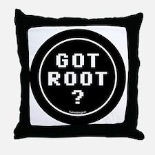 btn-geek-got-root Throw Pillow