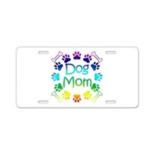 """Dog Mom"" Aluminum License Plate"