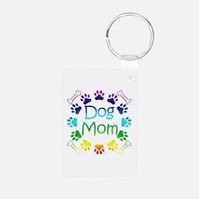 """""""Dog Mom"""" Keychains"""
