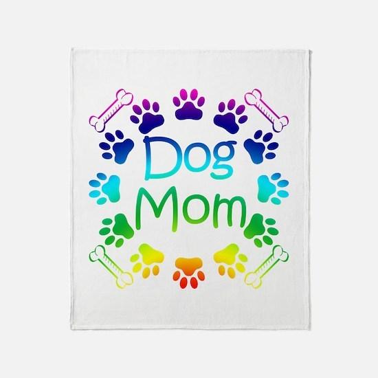 """Dog Mom"" Throw Blanket"