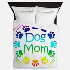 """Dog Mom"" Queen Duvet"