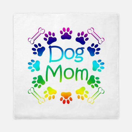 """Dog Mom"" Queen Duvet"
