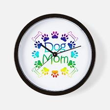 """Dog Mom"" Wall Clock"