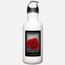 Red Rose personalized Water Bottle