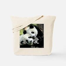 Chinese Love Little Pandas Tote Bag