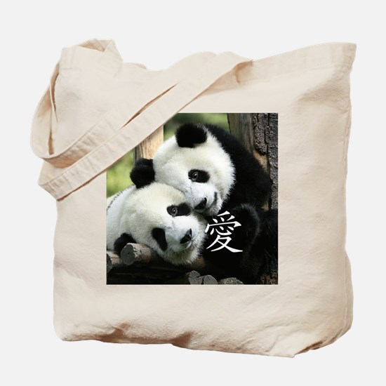Chinese Love Little Pandas Tote Bag