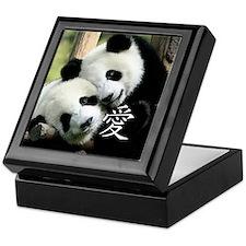 Chinese Love Little Pandas Keepsake Box