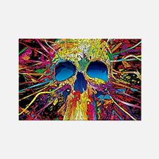 Color Skull Rectangle Magnet