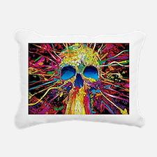 Color Skull Rectangular Canvas Pillow