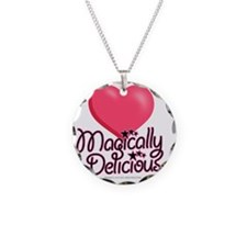 magicallydelicious_pink Necklace Circle Charm