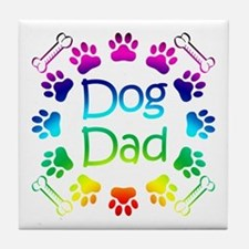 """Dog Dad"" Tile Coaster"