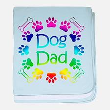 """Dog Dad"" baby blanket"