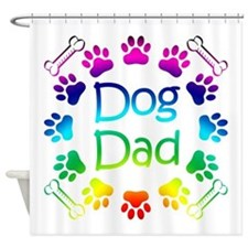 """Dog Dad"" Shower Curtain"