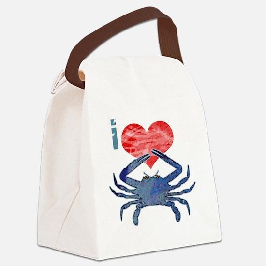 crabHeart Canvas Lunch Bag
