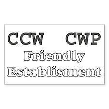 CCW CWP sticker